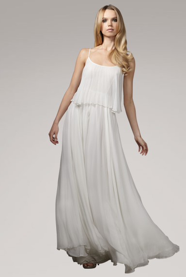 The simple and soft chiffon pleats instantly caught our eye. Halston Heritage Pleated Chiffon Gown ($895)