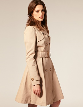 The A-line shape of this Warehouse trench ($152) is feminine and pretty.