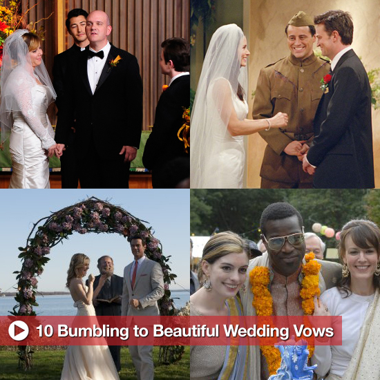 10 Bumbling to Beautiful Onscreen Vows