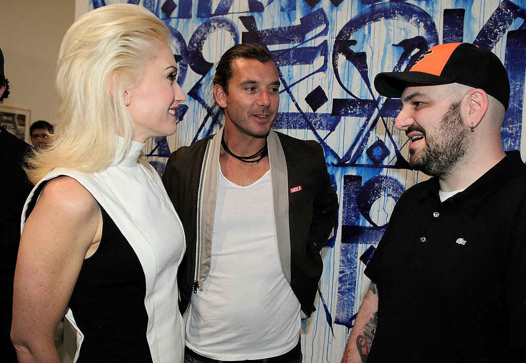 Gwen Stefani and Red-Headed Drew Barrymore Hit the MOCA For a Night of Street Art