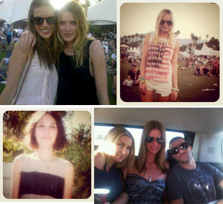 Pictures of Celebrities at Coachella 2011;Twitter Pictures including Alexa Chung, Kate Bosworth, Paris Hilton and more