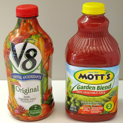 Difference Between V8 vs. Mott's Vegetable Juice