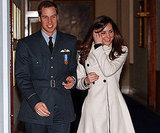 In April 2008, Kate was there to toast William when he graduated from the Royal Air Force.