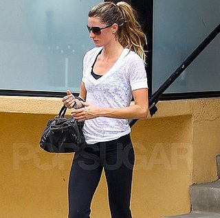 Gisele Bundchen Leaving the Gym in LA