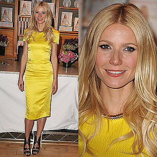 Gwyneth Paltrow Wears Yellow Rachel Roy Dress