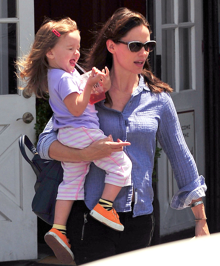 Jennifer Garner and Seraphina Affleck Go Crazy For Toys Together