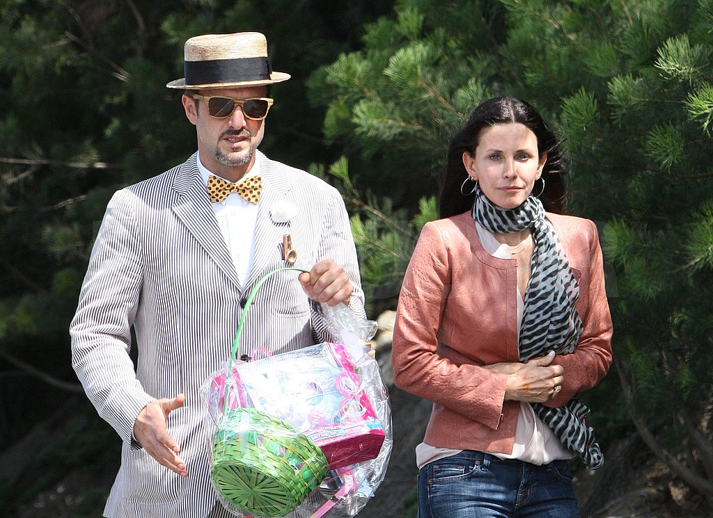 Courteney and David Hop to Their Easter Festivities Together