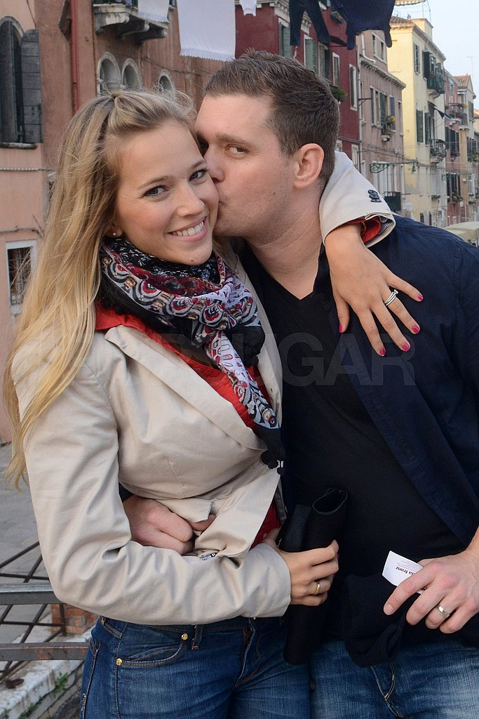 Michael Bublé and New Wife Luisana Lopilato Tour Venice on Their Honeymoon!