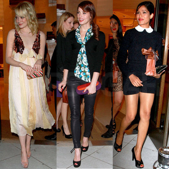 Gorgeous Emma Stone, Freida Pinto, and Ashley Greene Gather for LV