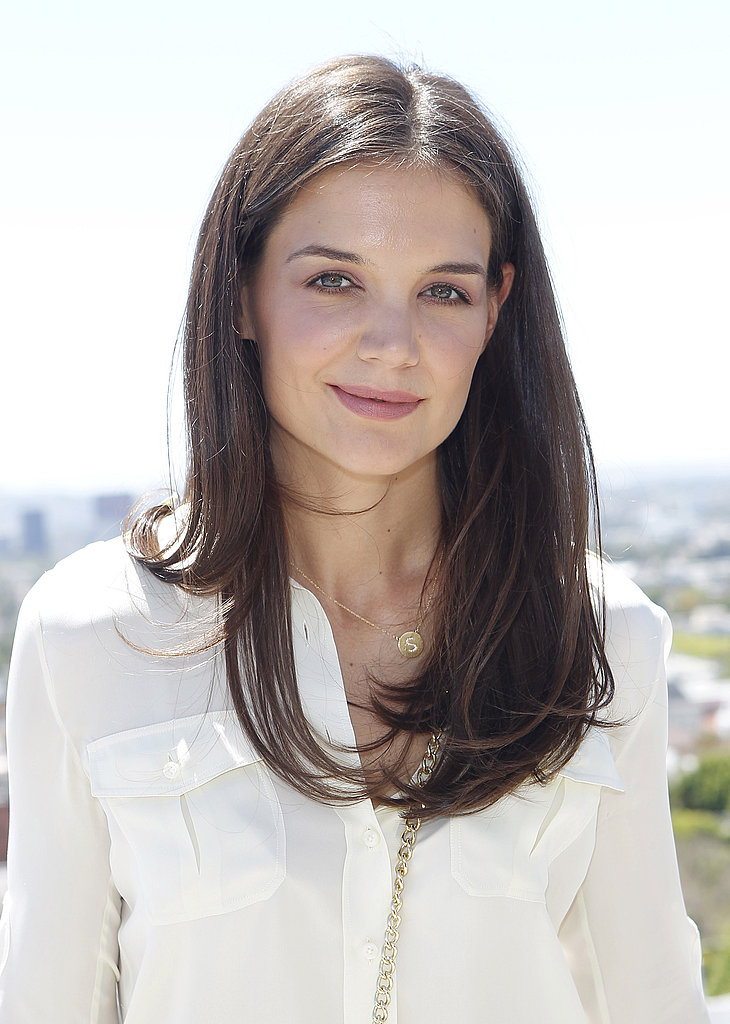 Katie Holmes Has a Bright Spring Lunch For Ann Taylor