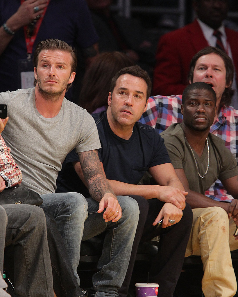 David Beckham, Zac Efron, Jon Hamm, and More Root On the Lakers to a Win!