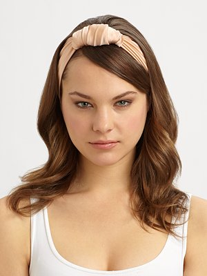 Jennifer Behr Washed Silk Stretch Turban Heandband ($118)
