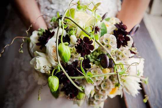 I loved the chocolate cosmos flowers in the bouquet.
