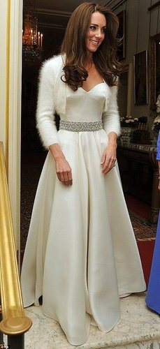 See Kate Middleton's Evening Dinner Reception Dress, Also by Sarah Burton for Alexander McQueen