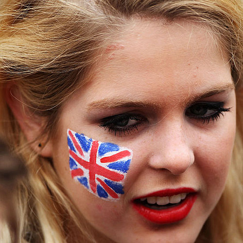 Royal Wedding Fans: Face Paint Pictures