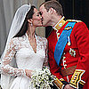 Kate Middleton and Prince William First Kiss on the Balcony