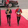 Prince William and Prince Harry Arriving at Royal Wedding Video