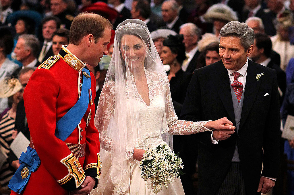 Prince William and Kate Middleton laughed during their wedding ceremony.