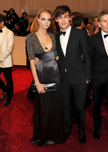 Cara Delevigne in Burberry with Douglas Booth