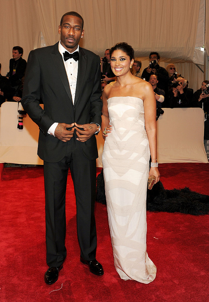 Amar'e Stoudemire and Rachel Roy in her own design