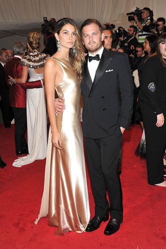 Lily Aldridge and Caleb Followill, both in Ralph Lauren