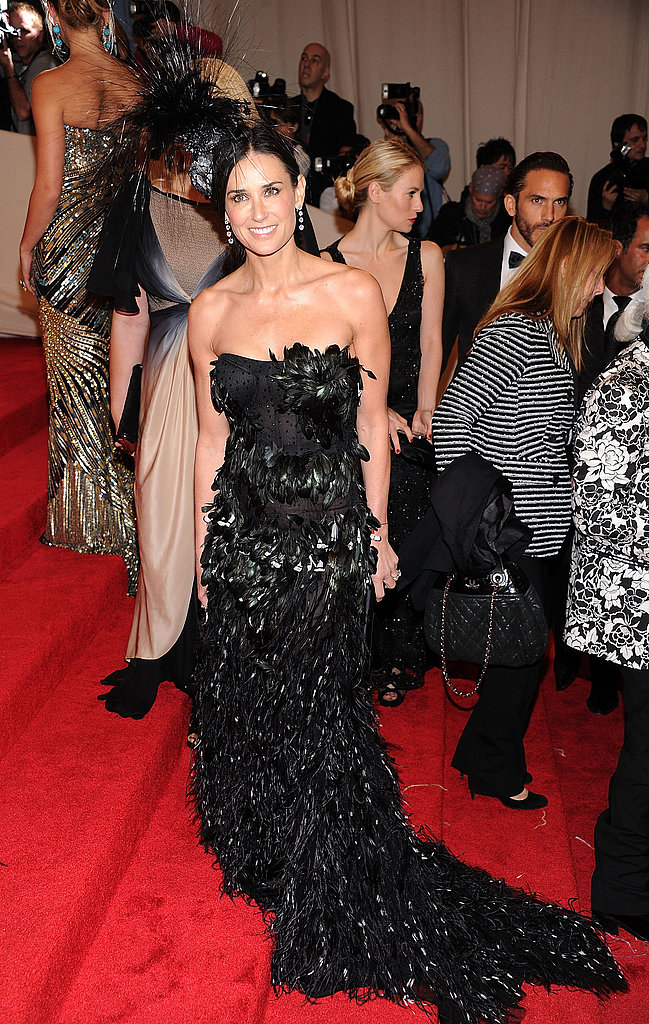 Demi Moore in Prabal Gurung and Philip Treacy hat