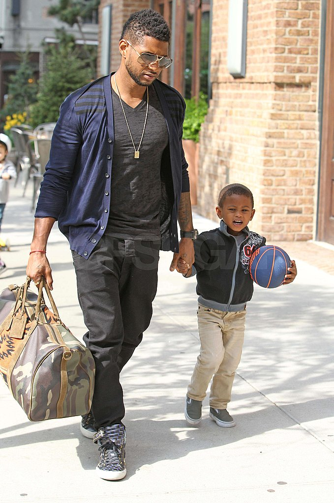 Usher's Sons Gets Sporty During a Day Out With Dad