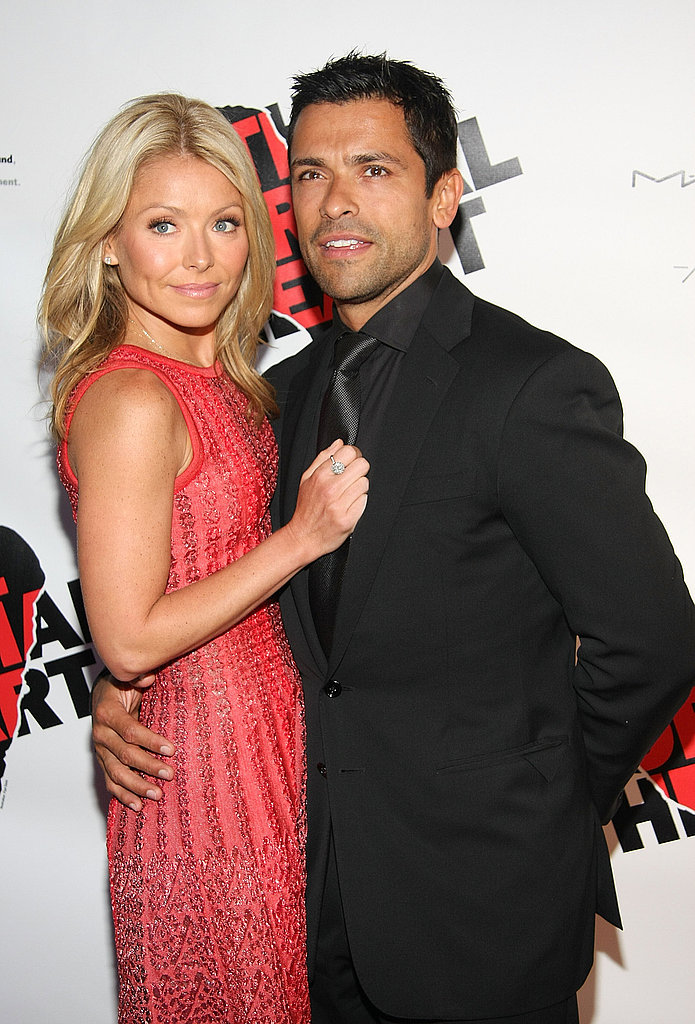 "Kelly Ripa says you know you're a mother when...  ""When you go to work at your television network with snot on your sleeve four out of five days a week."""