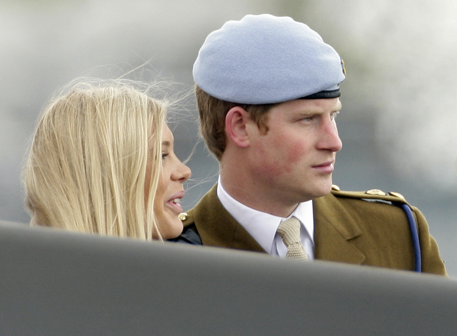 Then-girlfriend Chelsy Davy supported Harry at his graduation from the Army Air Corps pilots course in May 2010.
