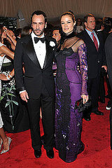 "Tom Ford and model Carolyn Murphy(2011 Met Gala...""Alexander McQueen: Savage Beauty"")"