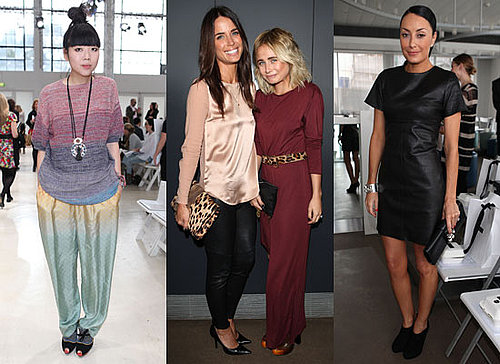 Pictures of Front Row Celebrities From 2011 Rosemont Australian Fashion Week Day One including Susie Bubble and Kate Waterhouse