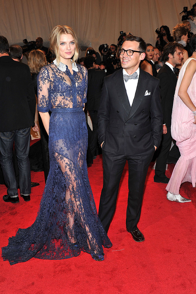 Lily Donaldson in Erdem, with the designer