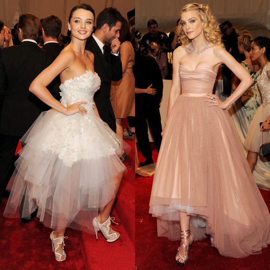 Miranda Kerr and Jessica Stam: Ballerina Dresses at the Met Gala