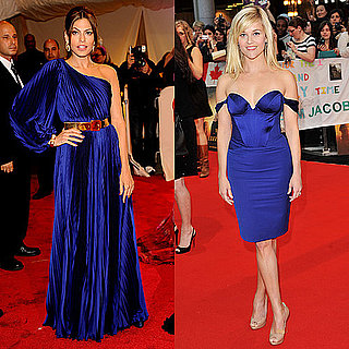 Reese Witherspoon and Eva Mendes in Royal Blue Dresses