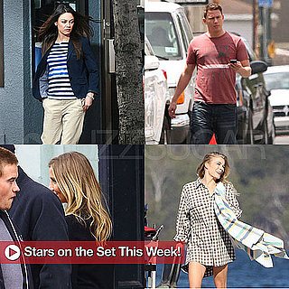 Channing Tatum, Mila Kunis, Cameron Diaz on Set