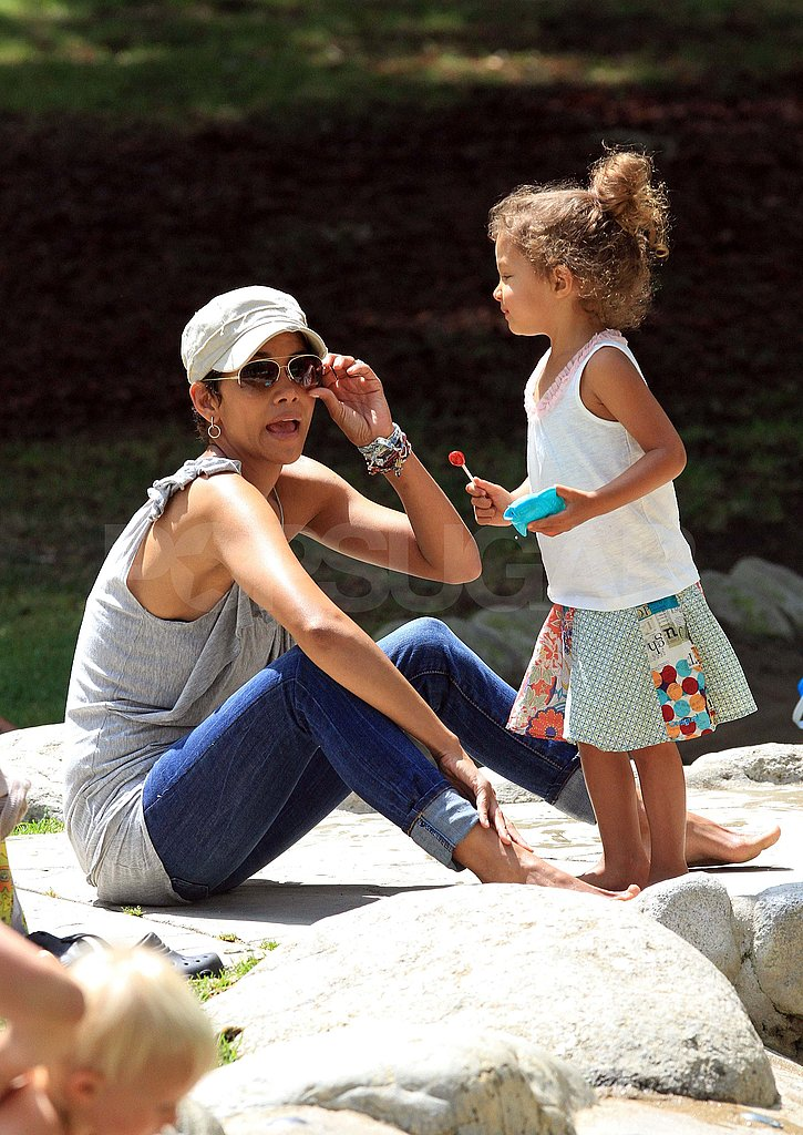 Halle Berry Swings Into the Weekend With Nahla