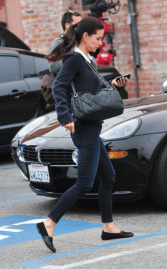 Courteney Cox Stops to Shop Following a Dinner Date With Brad Pitt and Friends