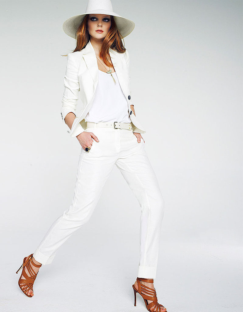 White can also be considered a bright hue, especially when you wear it head to toe.