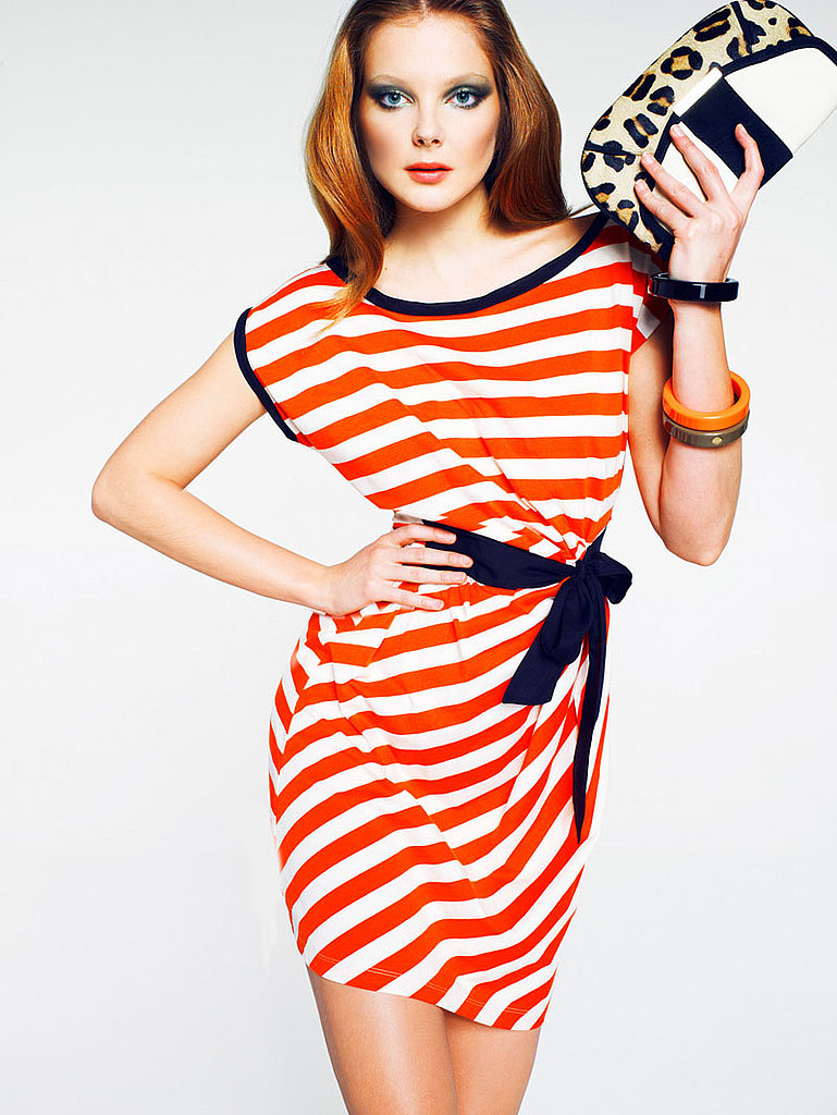 If you're feeling especially daring, mix your prints via a striped dress and animal print accessories.