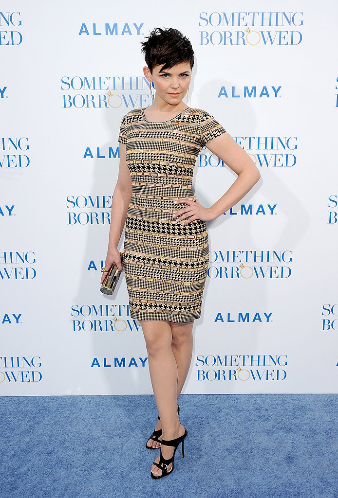 Ginnifer Goodwin wowed in a curve-hugging embellished sheath at the Something Borrowed premiere.