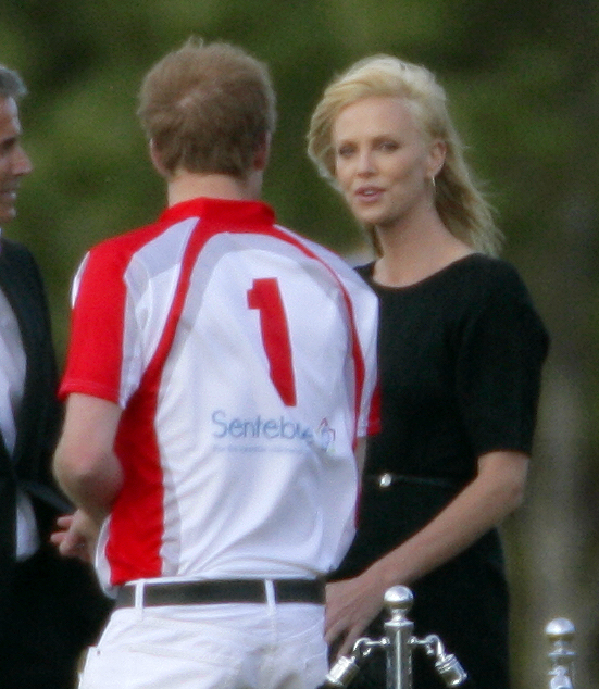 Charlize Theron Chats Up England's Most Eligible Bachelor, Prince Harry