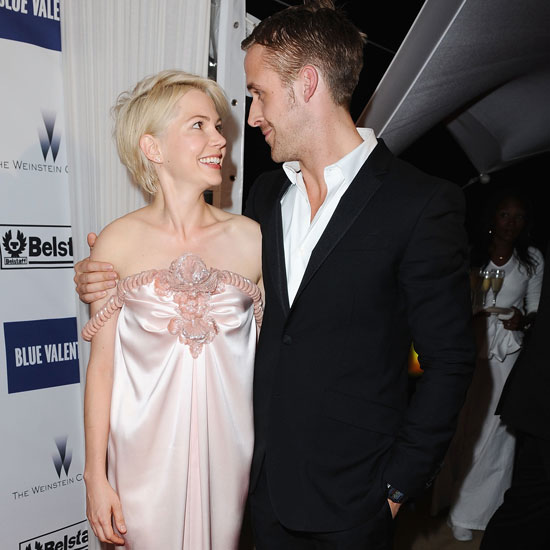 Michelle Williams and Ryan Gosling shared a moment during the premiere of Blue Valentine in 2010.
