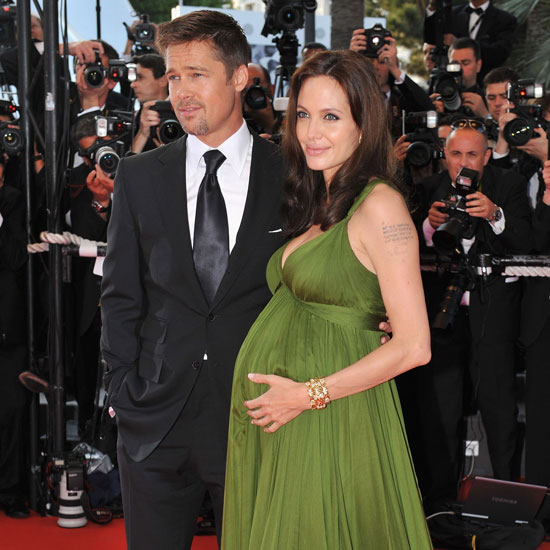 Brad Pitt joined a pregnant Angelina Jolie for the 2008 premiere of Kung Fu Panda in Cannes.