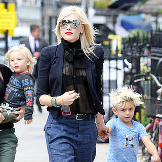 Pictures of Gwen Stefani and Family in London