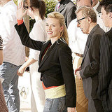 Scarlett Johansson and director Woody Allen promoted Match Point together in 2005.