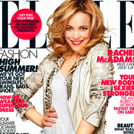 Rachel McAdams in Elle Magazine's June issue