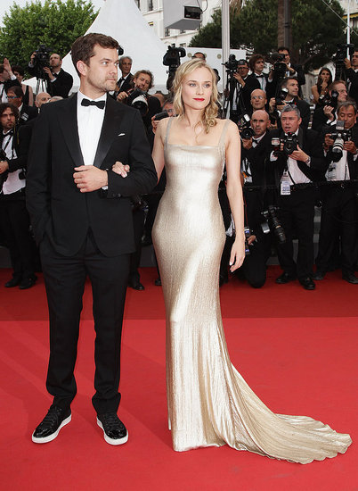 Diane Kruger Goes For the Gold at Cannes With Joshua Jackson on Her Arm