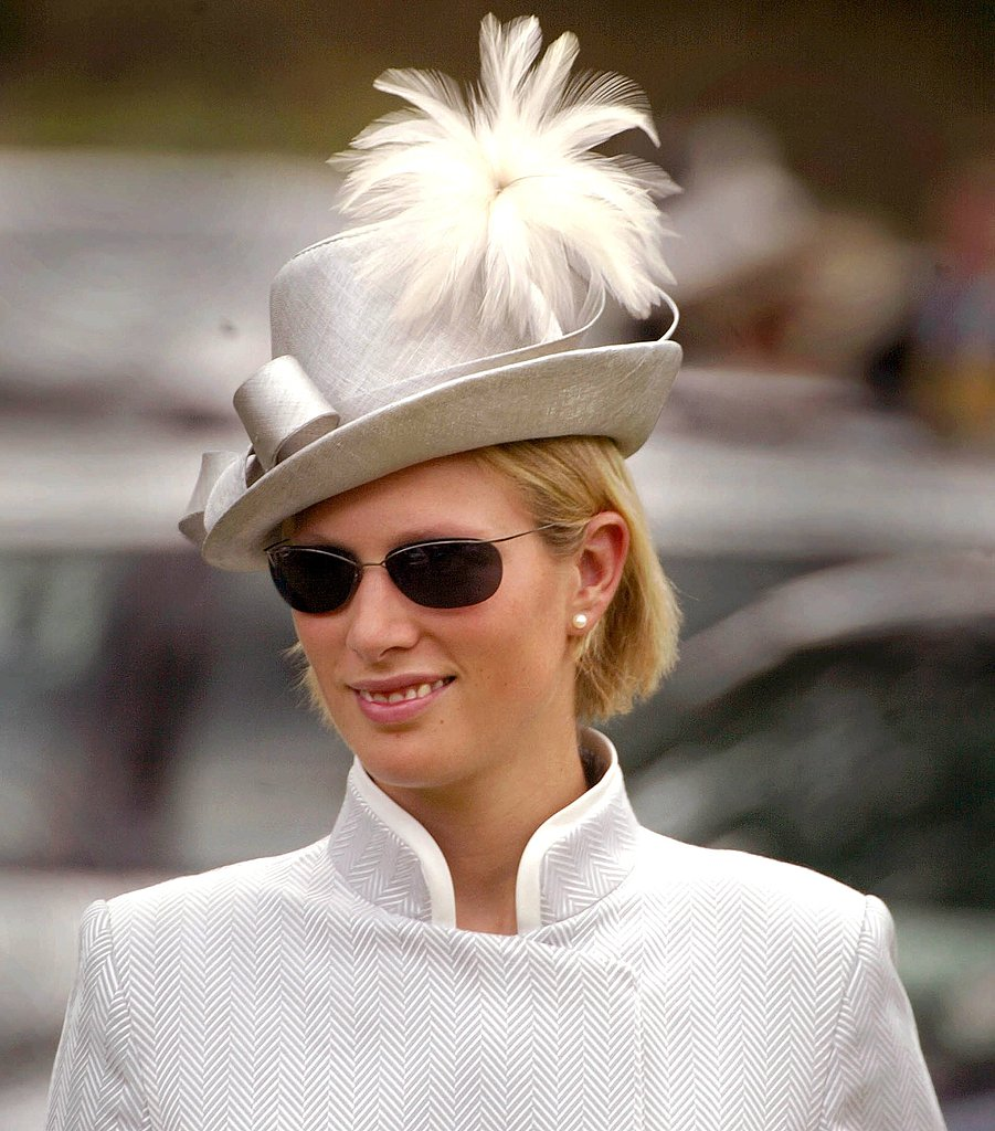 Zara looked sharp as she arrived for Ladies Day at the Royal Ascot horse racing event in 2002.