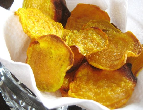 Baked Golden Beet Chips