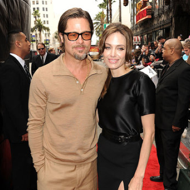 Angelina Jolie and Brad Pitt at the LA Premiere of Kung Fu Panda 2 2011-05-22 13:43:37